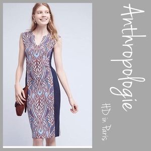 Anthropologie Cleo Jacquard Dress HD in Paris LRG